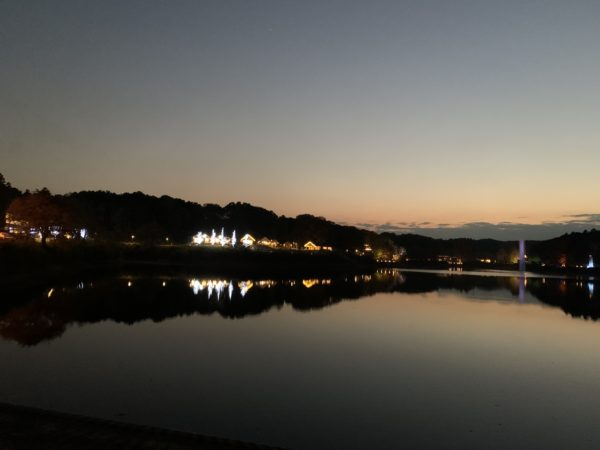 アドベンチャーウォーク開始後に橋からメッツァを撮った写真です